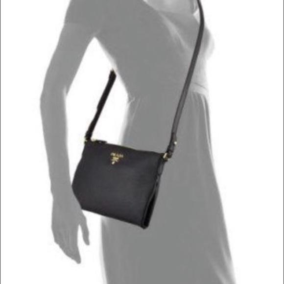 6ade592698317 PRADA Vitello Daino Medium Pouch Crossbody Bag